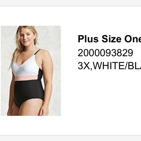 41c6567abd327 Forever 21 Other - F21+ Colorblock One piece Swimsuit